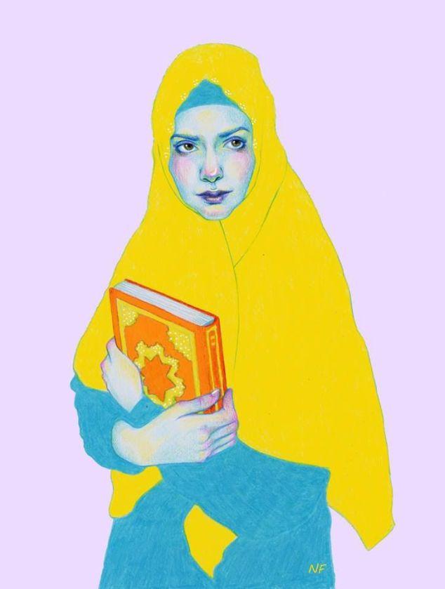 Woman reader / Lectora (ilustración de Natalie Foss)