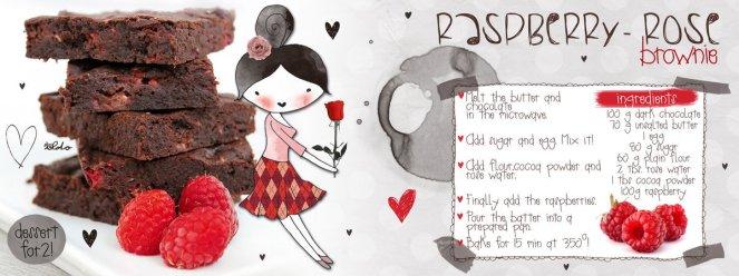Raspberry-rose brownie by iLDo