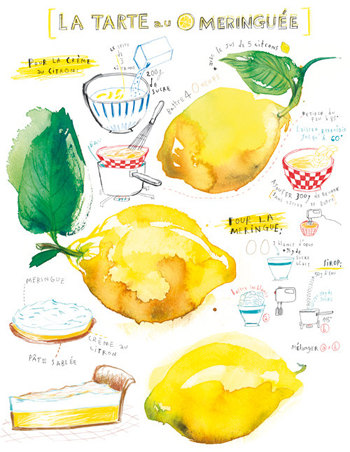 """Lemon meringue pie illustrated recipe"" Lucile's Kitchen"