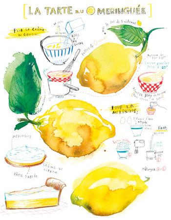 """Lemon meringue pie illustrated recipe"" Lucile's Kitchen"