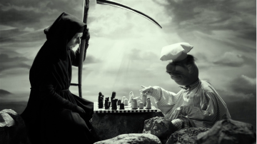 Swedish Chef playing chess w/ Death in an allusion to Ingmar Bergman's The Seventh Seal